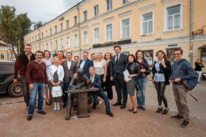 Открытие скульптуры ювелира в Костроме 20 июня 2018